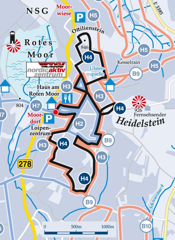 Rundloipe-H4-Schwierige-Förstina-Loipe Karte