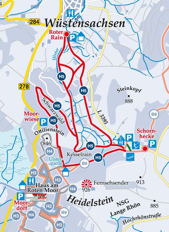 Rundloipe-H5-Schwarzwald-Wüstensachsen Karte