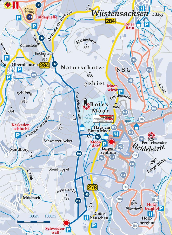 Rundloipe H6 Schwedenwall Karte