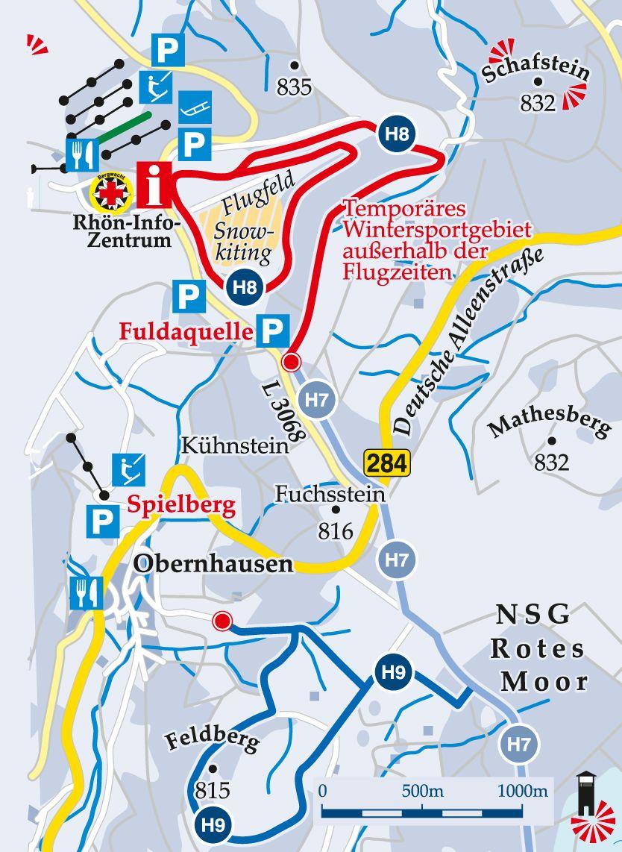 Streckenloipe-H7-Alte-Reichsstraße-Fuldaquelle Karte