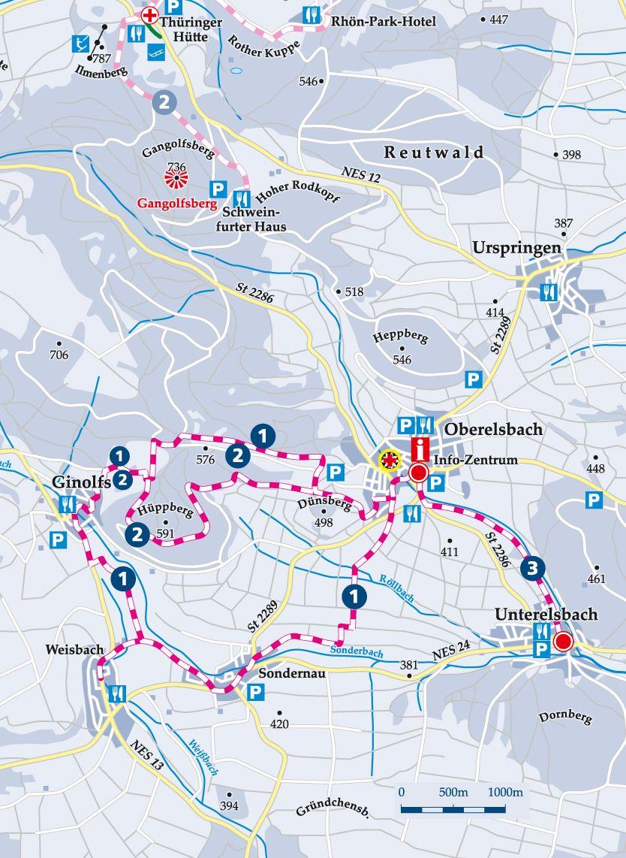 Winterwanderweg 2 Ginolfs Karte