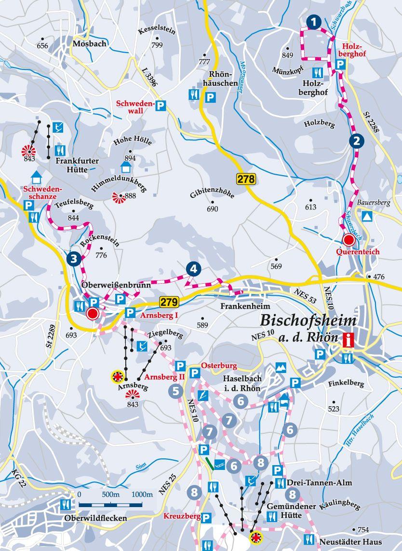 Winterwanderweg 2 Querenteich Karte