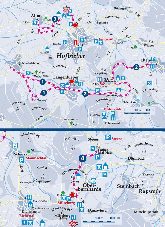 Winterwanderweg 2 DGH Langenbieber Karte