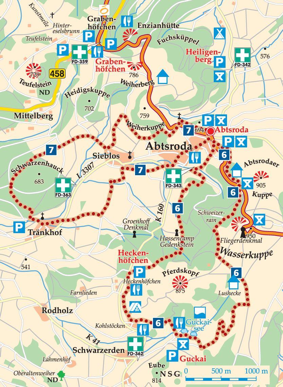 Rhön-Rundweg 7 Abtsroda Karte