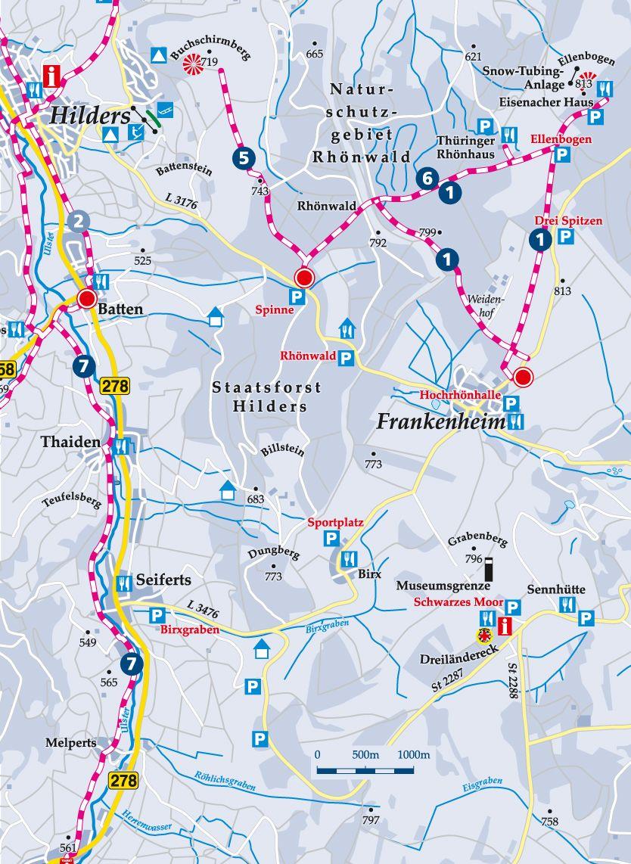 Winterwanderweg Frankenheim Karte