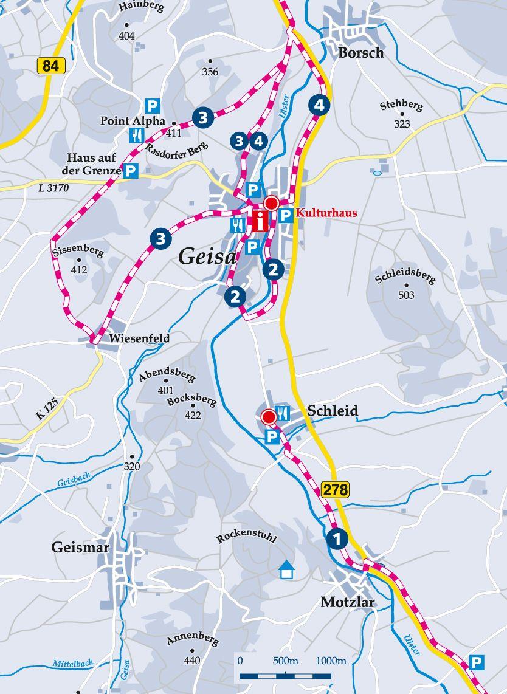 Winterwanderweg 4 Geisa Karte