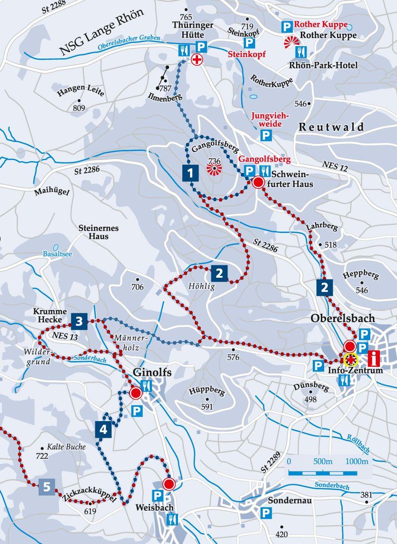Schneeschuhweg 2 Oberelsbach Karte