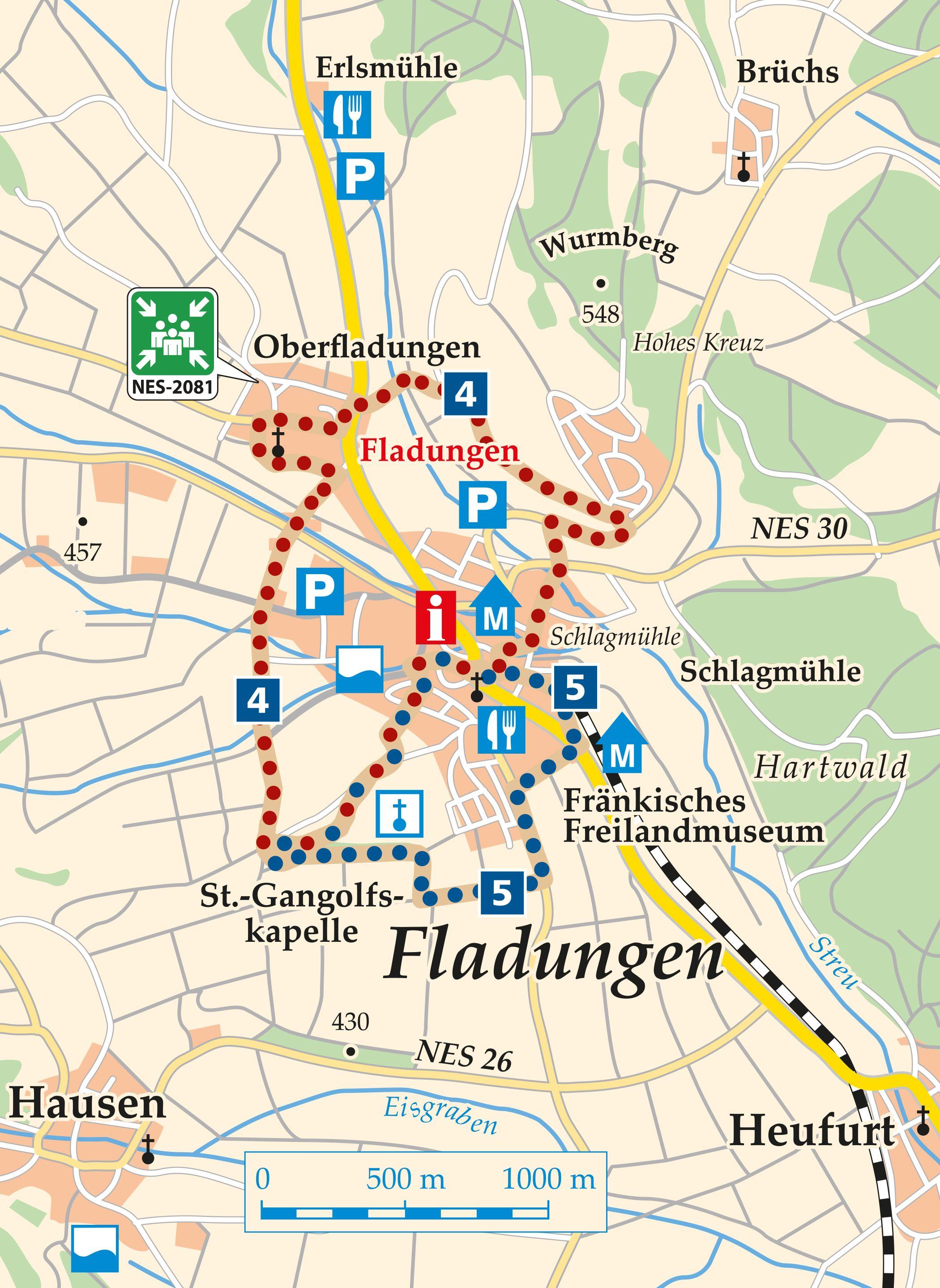 Rhön Rundweg 5 Fladungen - Karte