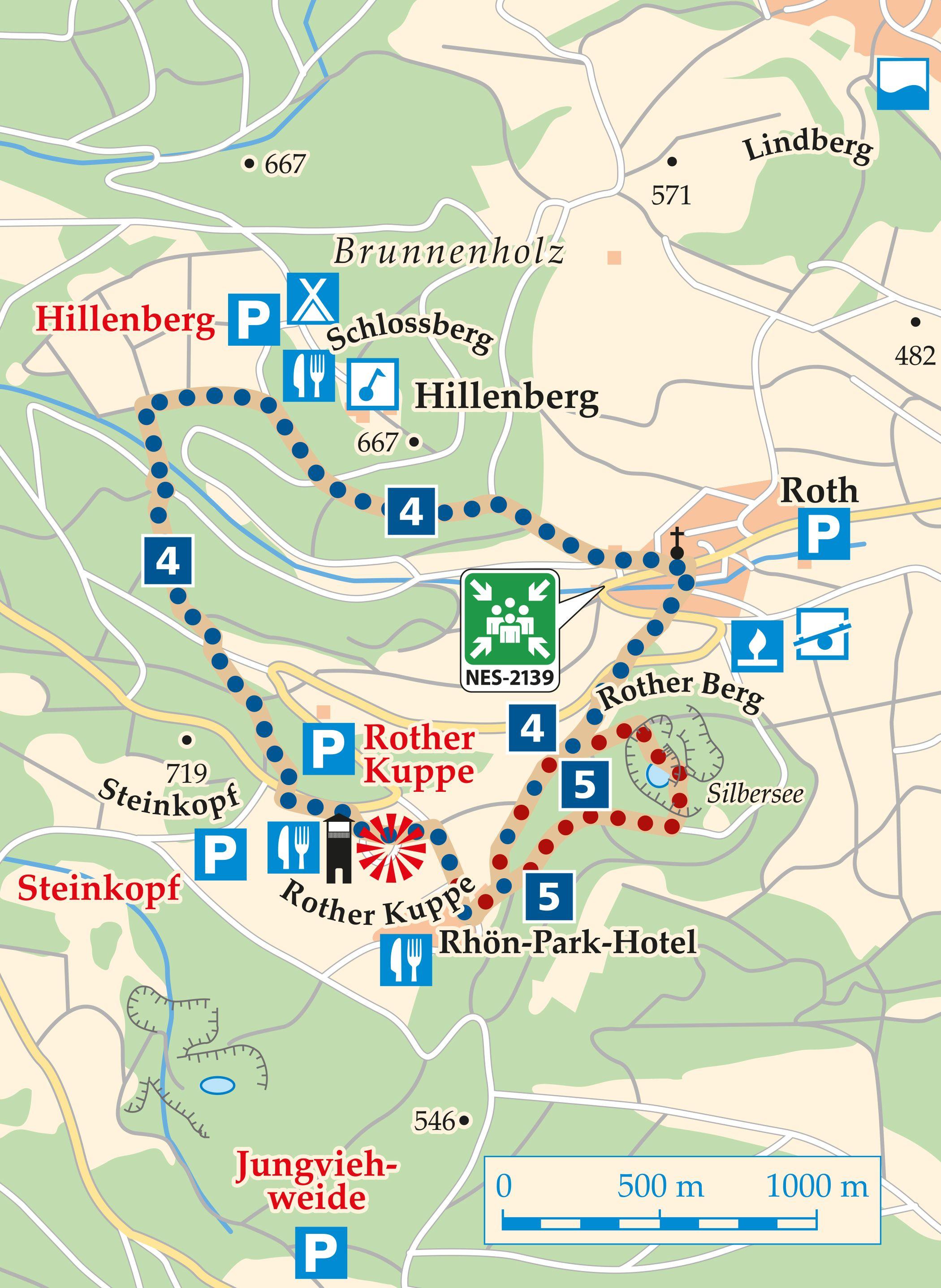 Rhön Rundweg 4 Hausen - Karte