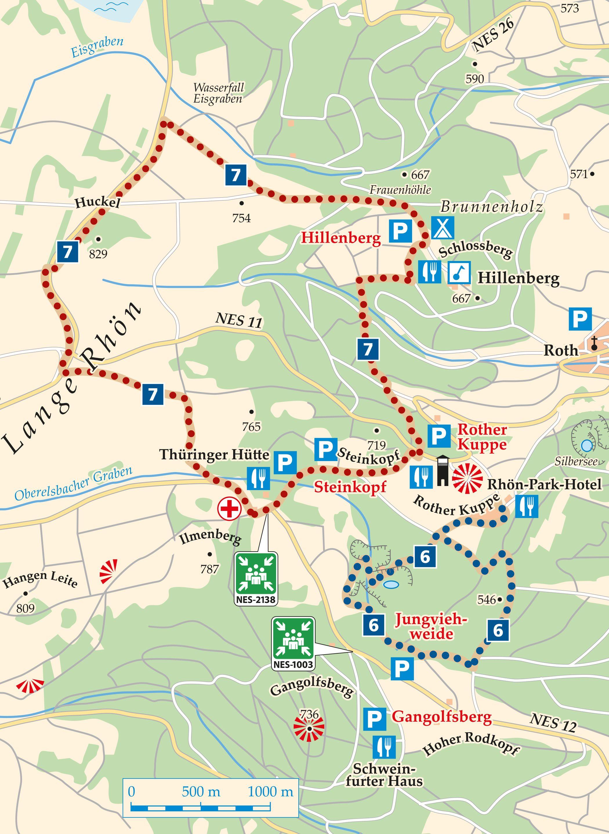 Rhön Rundweg 7 Hausen - Karte