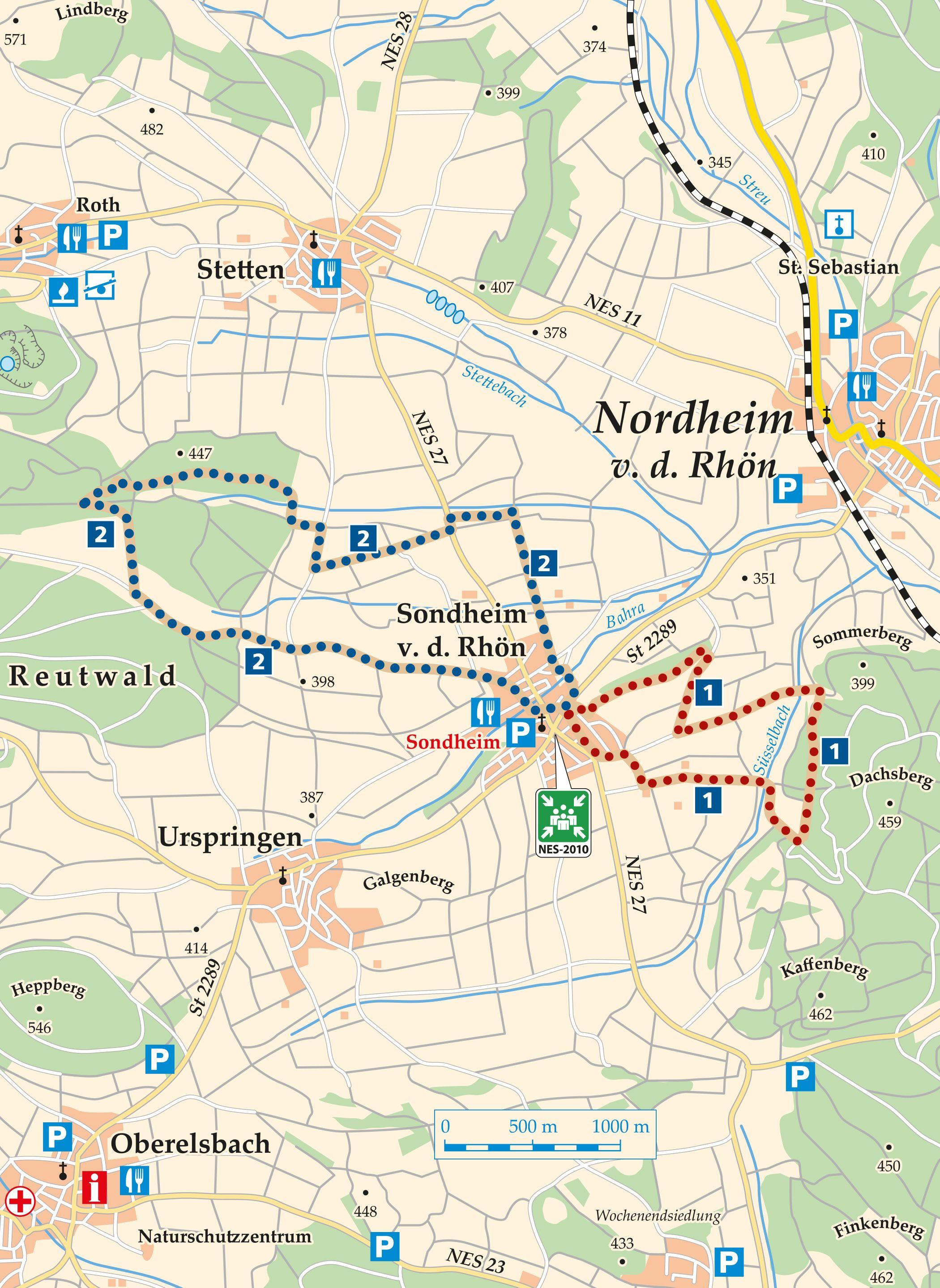 Rhön Rundweg 1 Sondheim v. d. Rhön - KarteRhön Rundweg 1 Sondheim v. d. Rhön - Karte