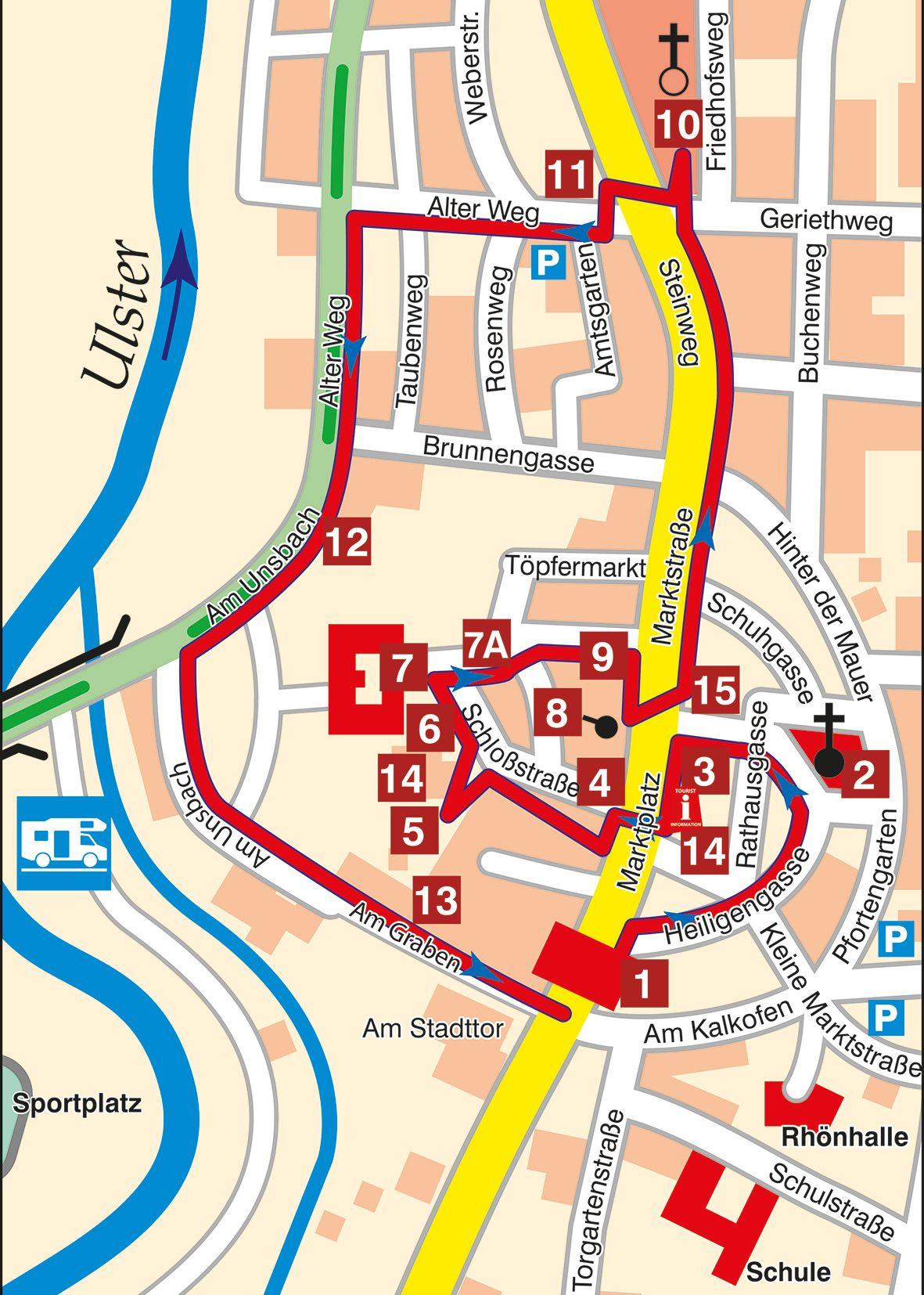 Stadtführung Tann Karte