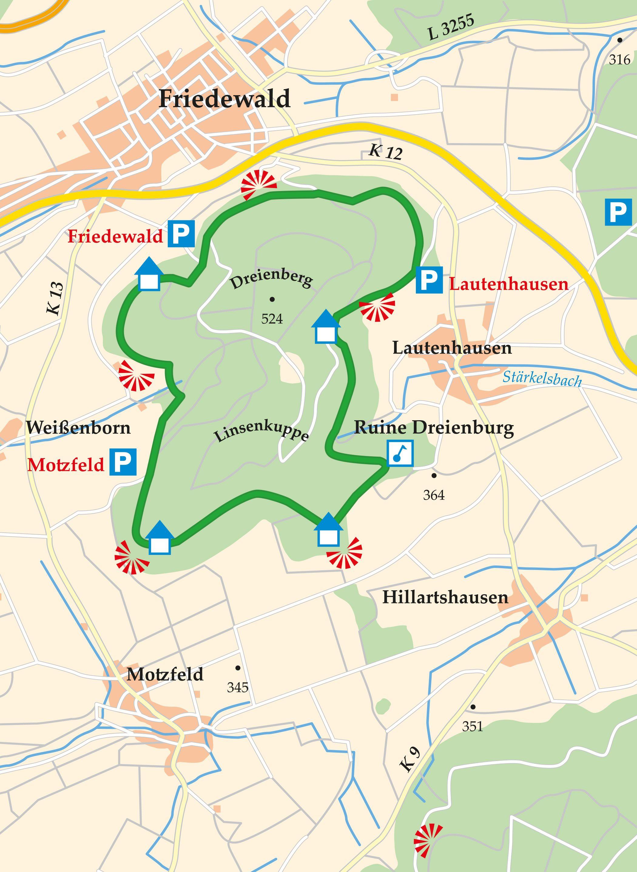 Extratour Dreienberg Karte