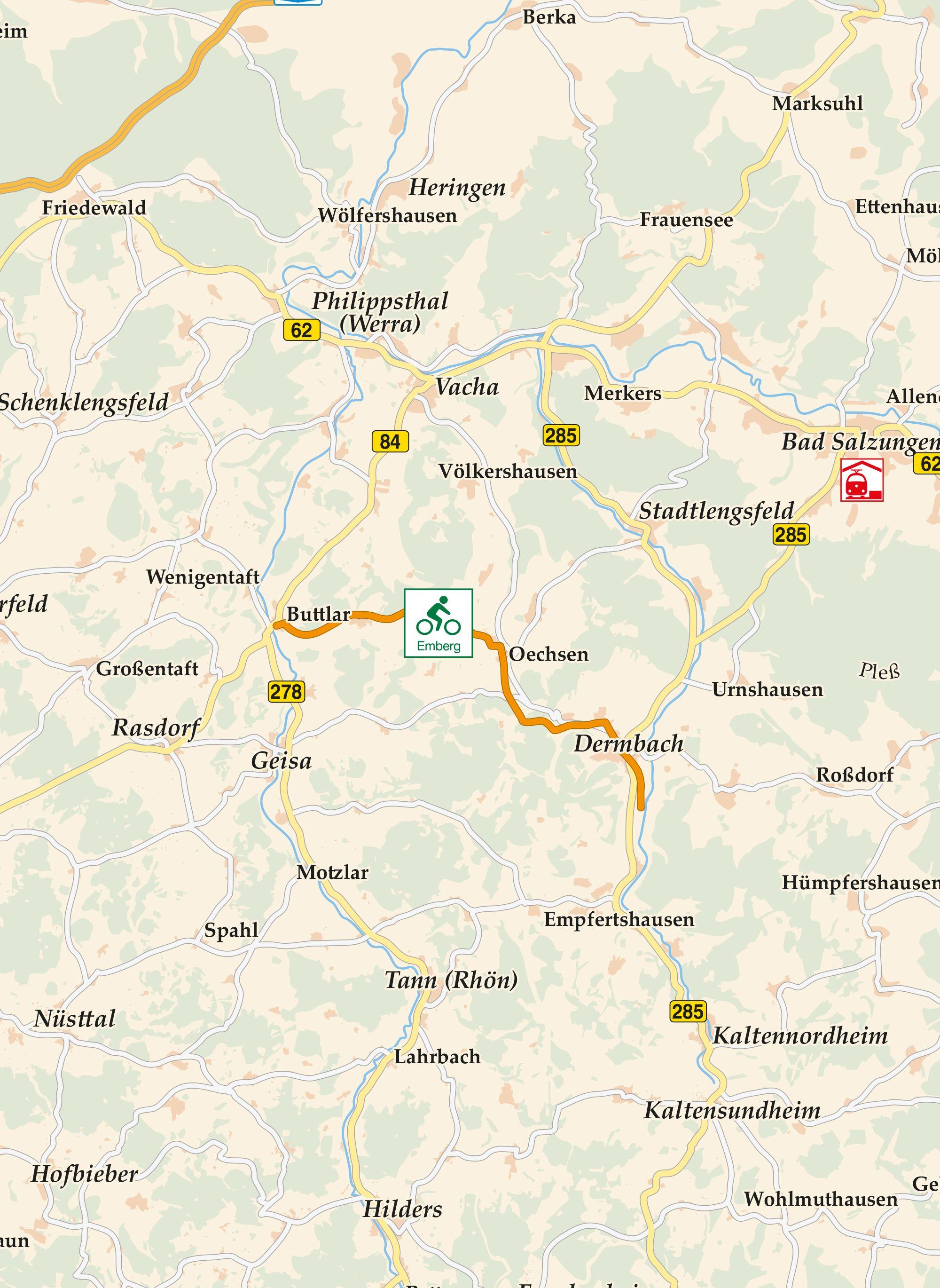 Emberg Radweg Karte