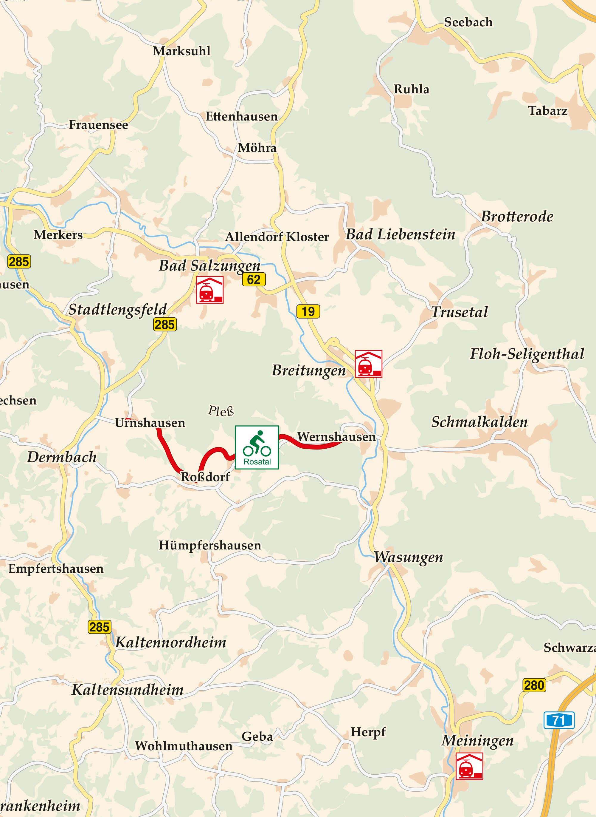 Rosatal Radweg Karte