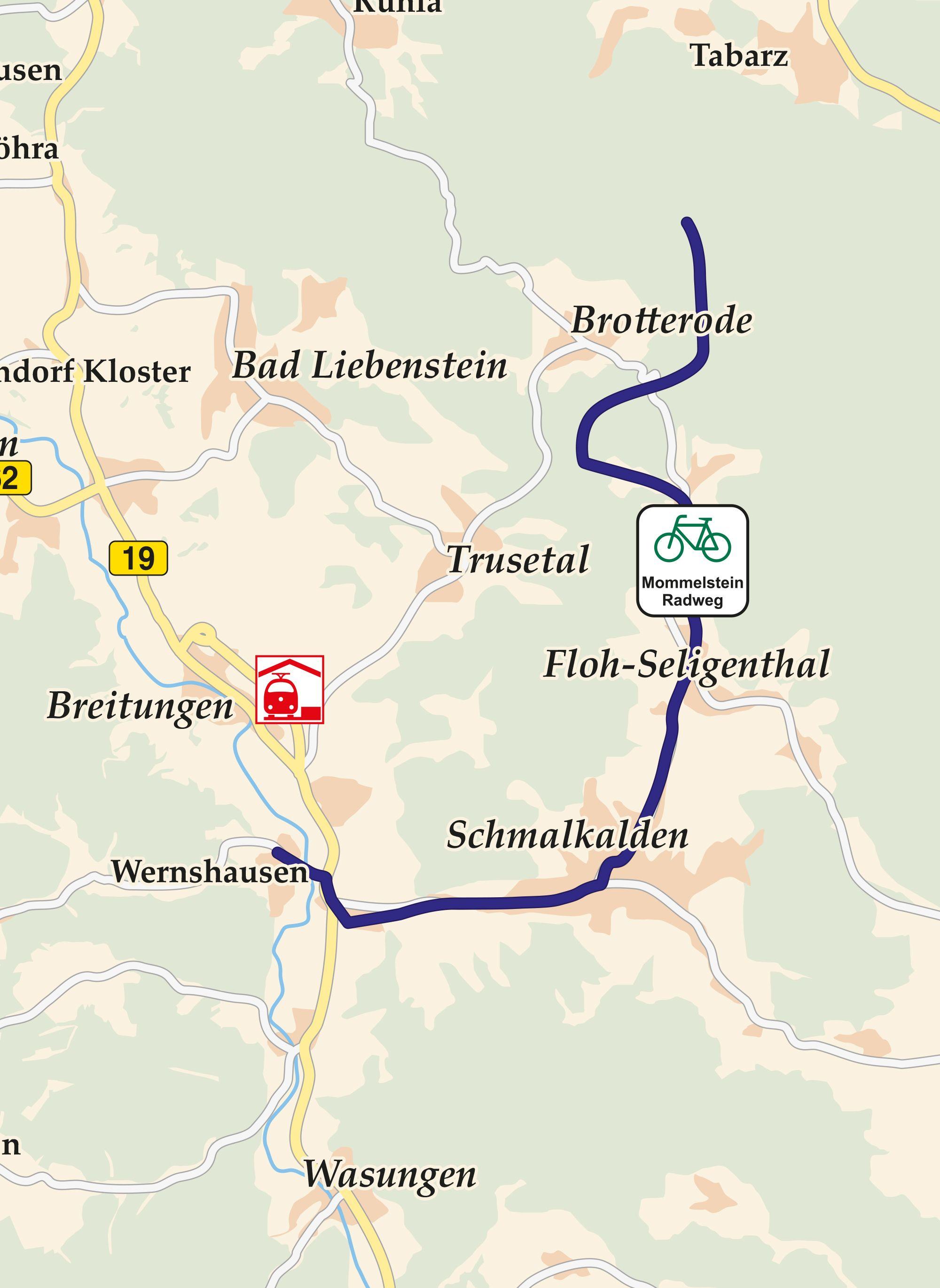 Mommelstein Radwanderweg Karte