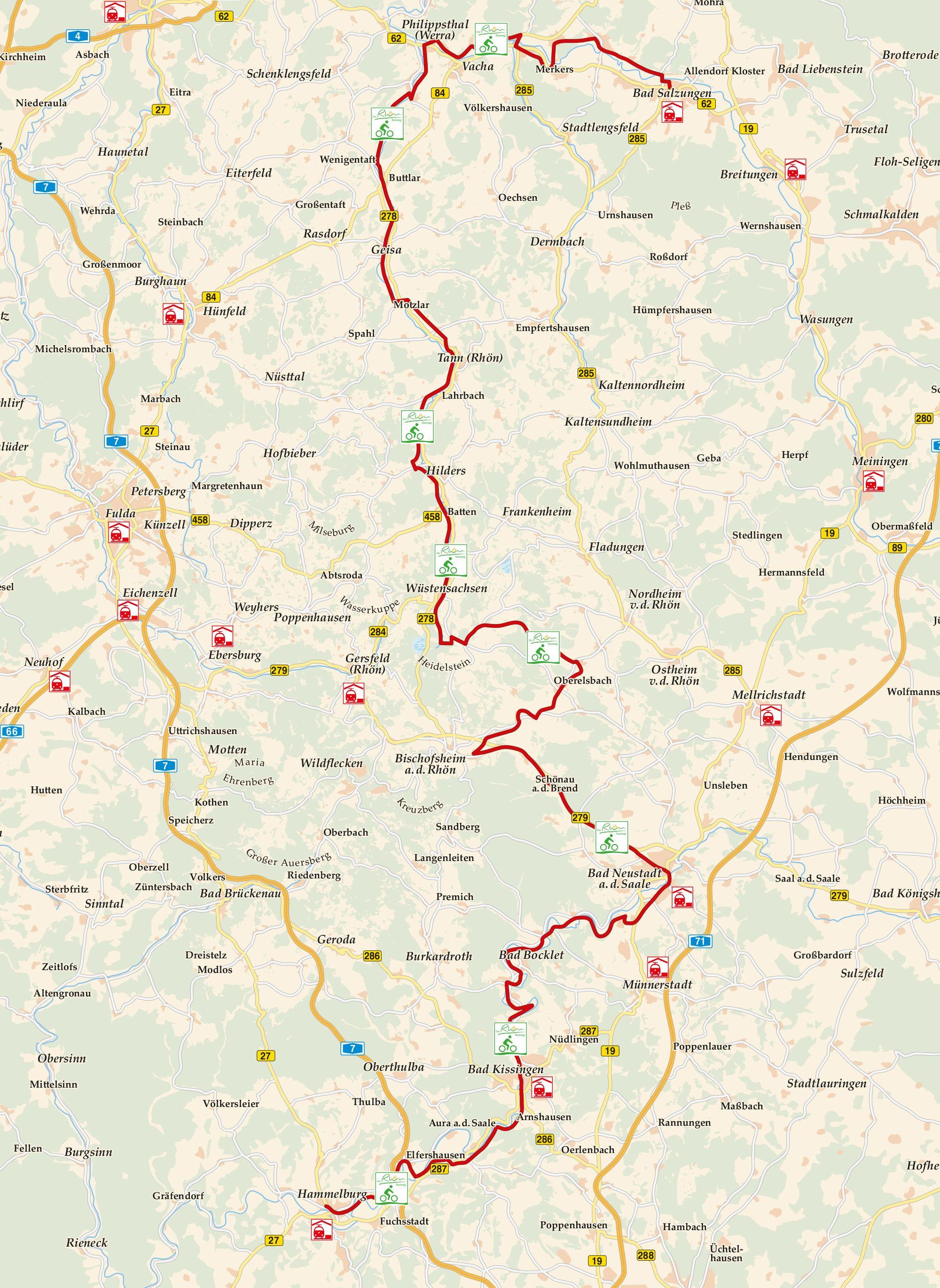 Rhön Radweg Karte