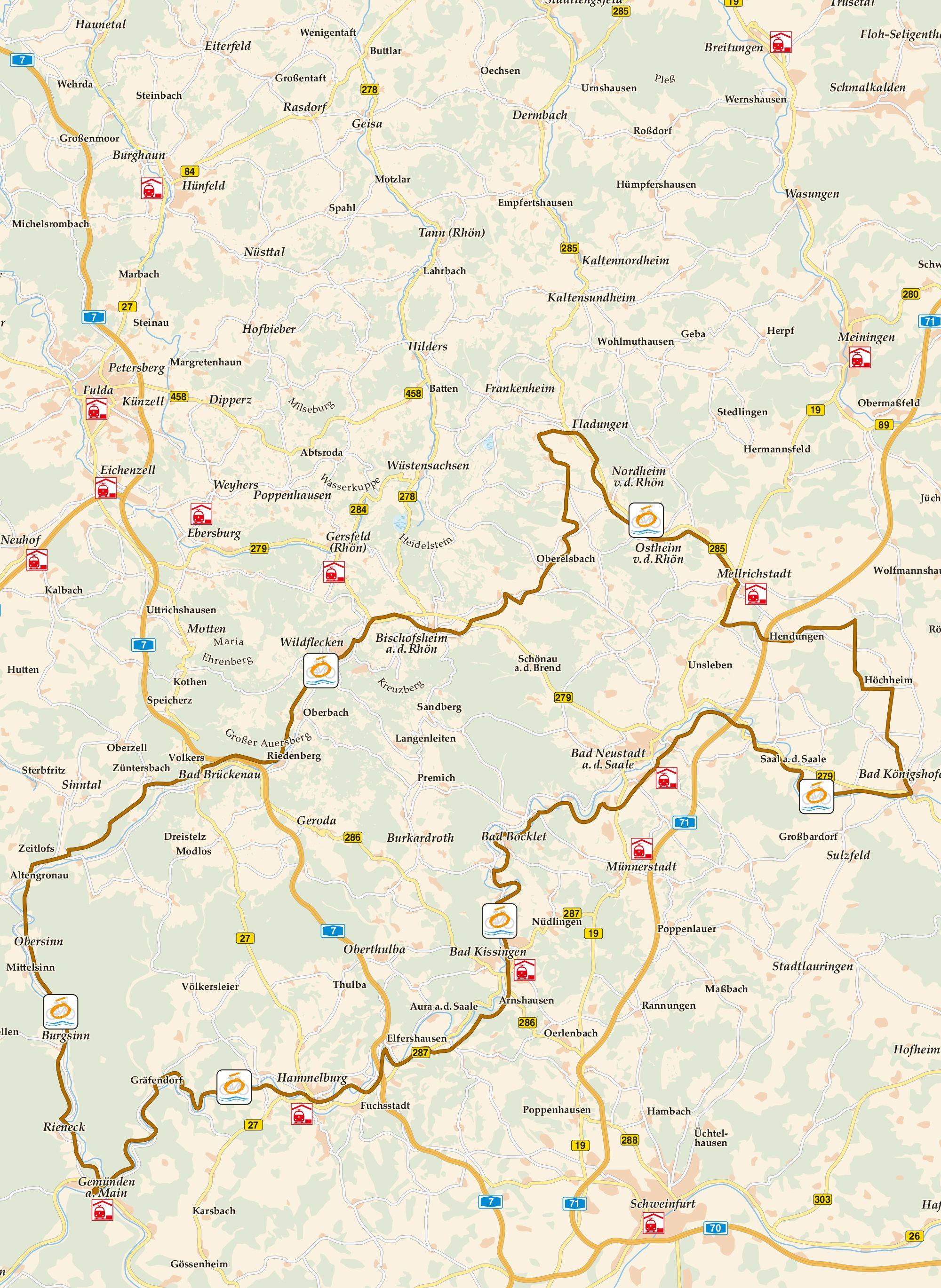 Vom Main zu Rhön Karte