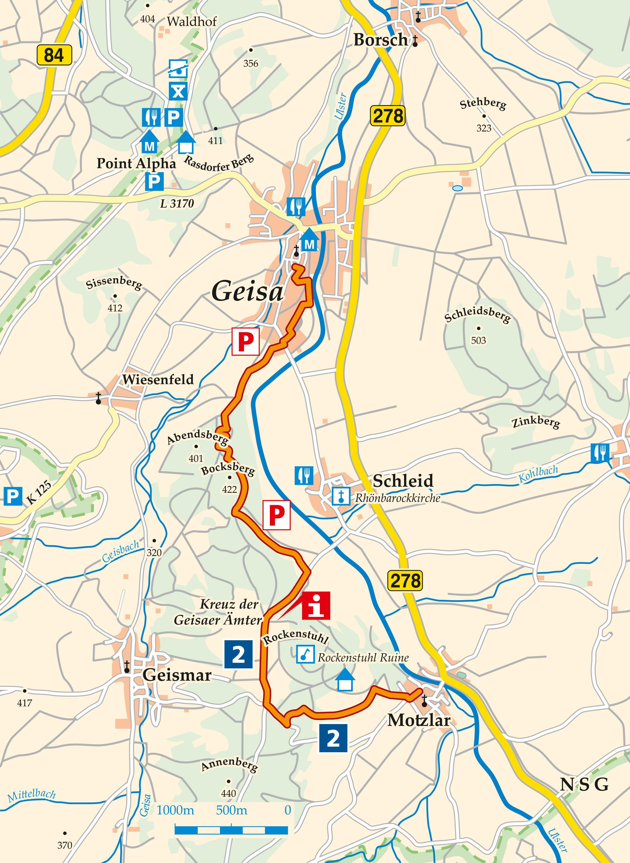 Sagenwanderweg Rockenstuhl Karte