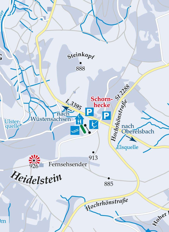 Skilift Kesselrain Heidelstein Karte