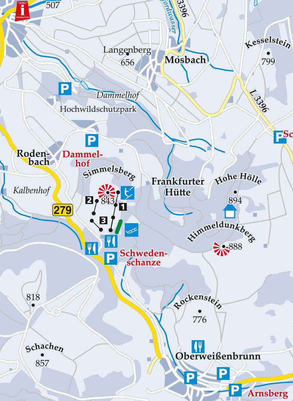 Skilift Kinderlift Simmelsberg Karte