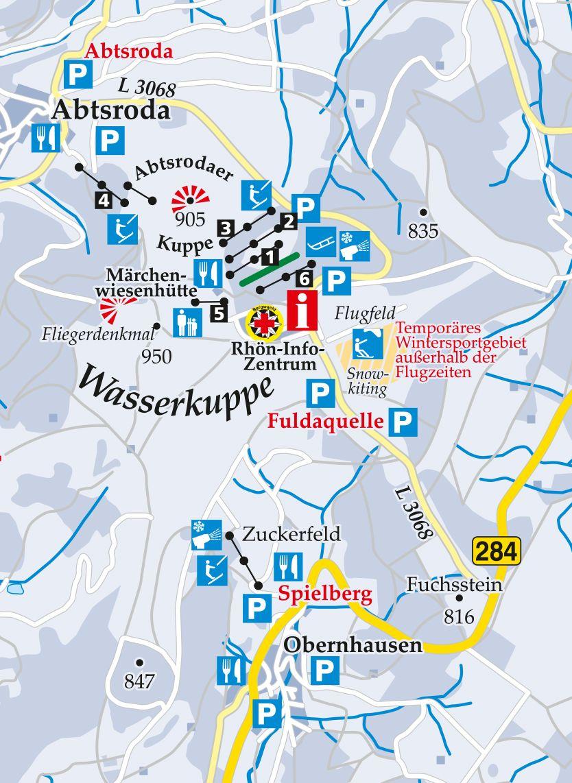 Skipiste Panorama Wasserkuppe Karte