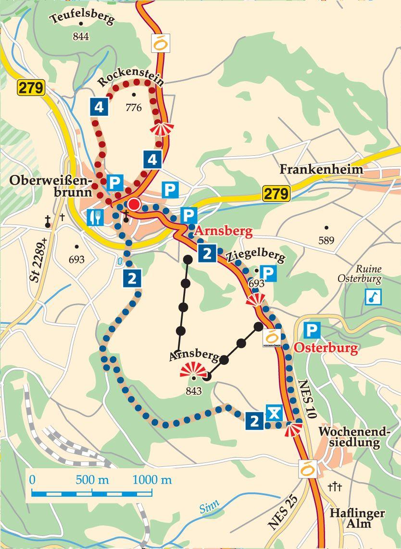 Rhön-Rundweg 2 Oberweißenbrunn Karte