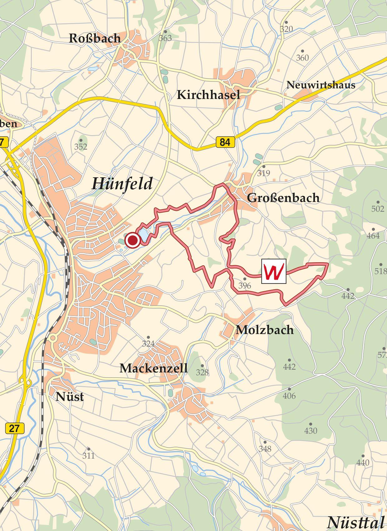 Rhön Extratour Weinberg Karte