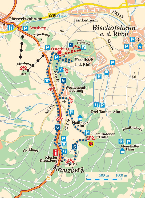 Rhön-Rundweg 6 Osterburg Karte