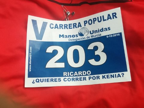 My starting number in the race.