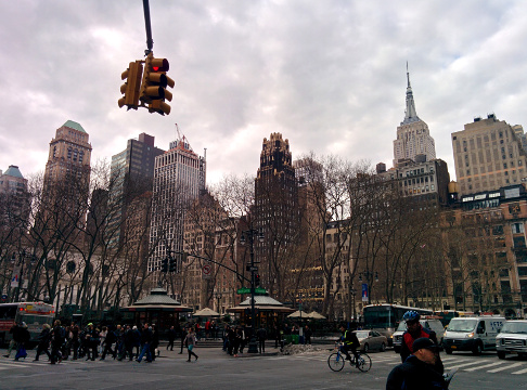 Bryant Park and the Empire State.