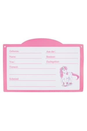 Stalltafel magnetisch, weiß-rosa von Pfiff
