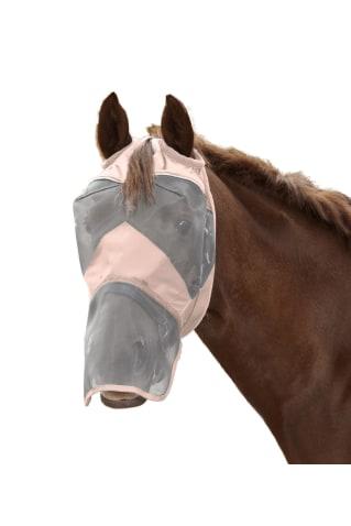 Fliegenmaske Premium ohne Ohren- mit Nasenschutz von Waldhausen, hellrosa