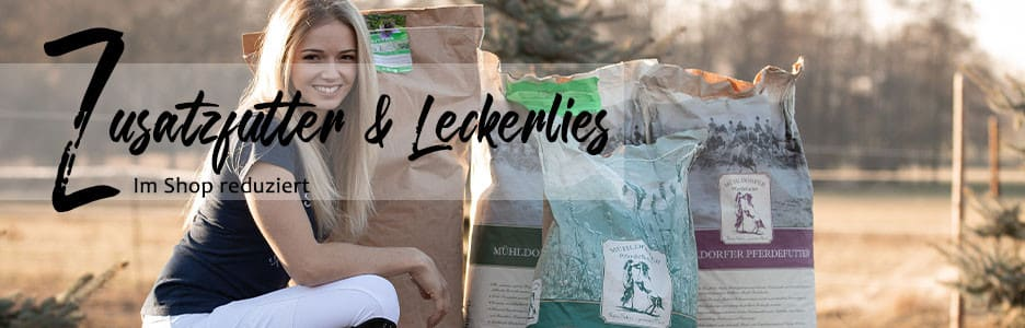 Im Shop: Zusatzfutter & Leckerlis