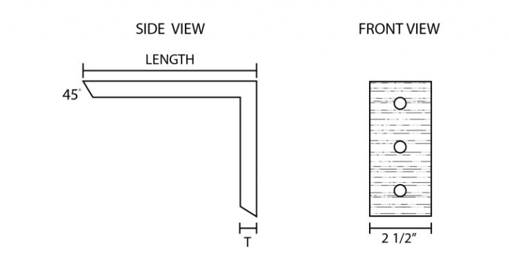 Right Angle Heavy Duty Shelf Bracket