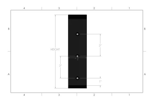 Front View Right Angle Metal Countertop Bracket