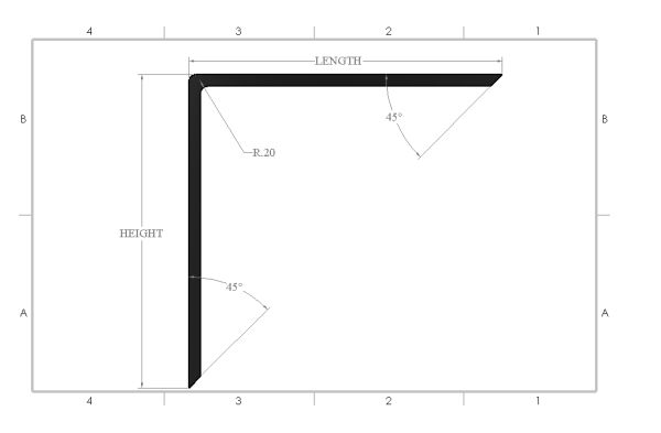Steel Right Angle Countertop Bracket
