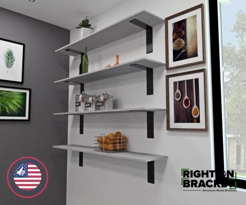 Steel Shelf Brackets - Right Angle Shelf Brackets