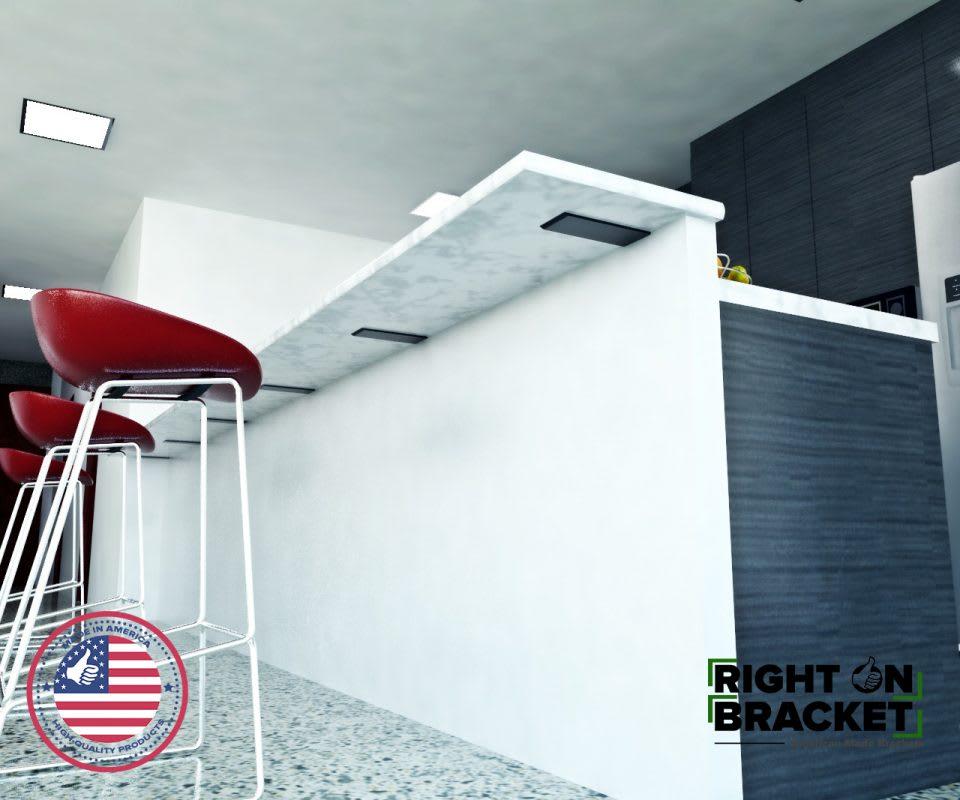 flat counter-top granite brackets