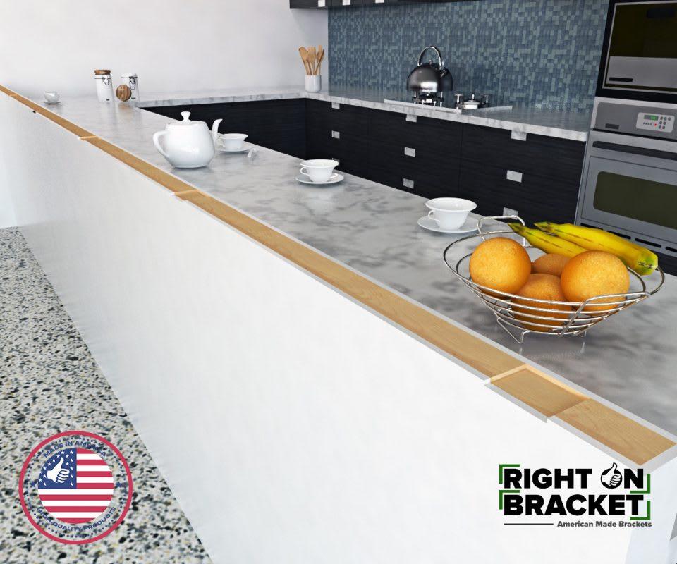 top mount counter brackets
