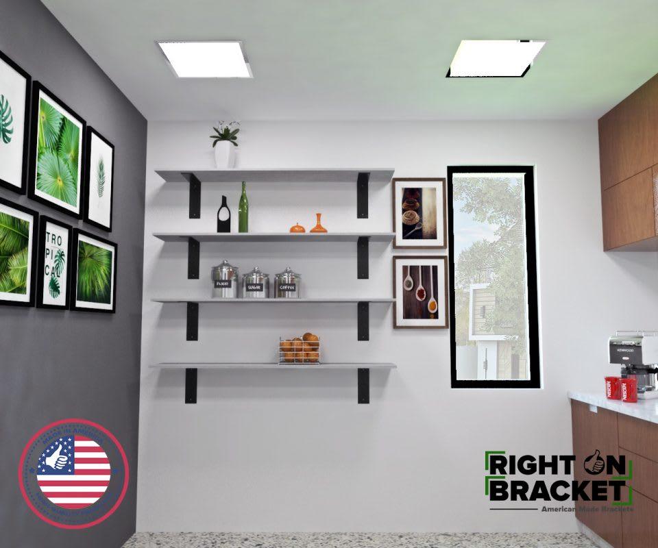 heavy duty steel shelf bracket