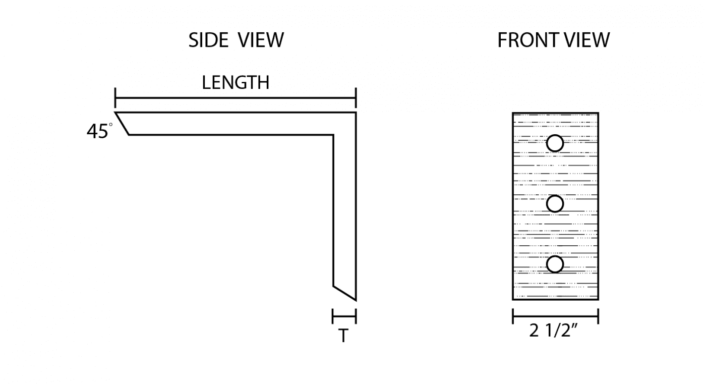Right Angle Countertop Bracket