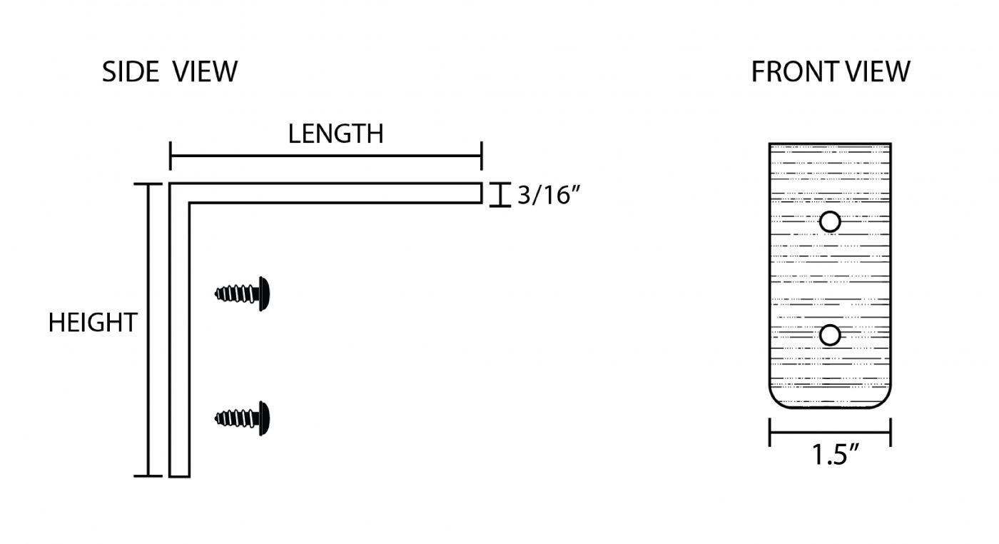 Steel Metal Angle Shelf Bracket