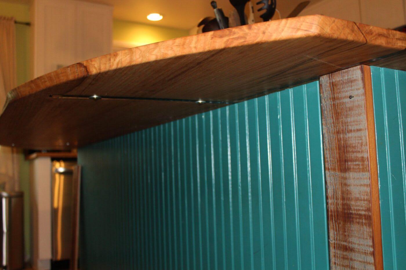 Wooden Countertop with Overhang