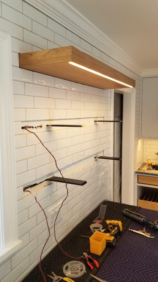 Heavy Duty Floating Shelves Installation