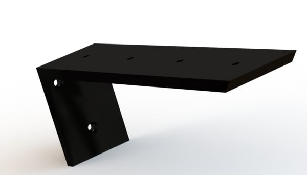 Back Mount Countertop Bracket Renderings