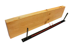 Light Wood Shelf With Floating Shelf Bracket