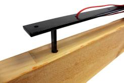 Light Wood Shelf with Floating Bracket