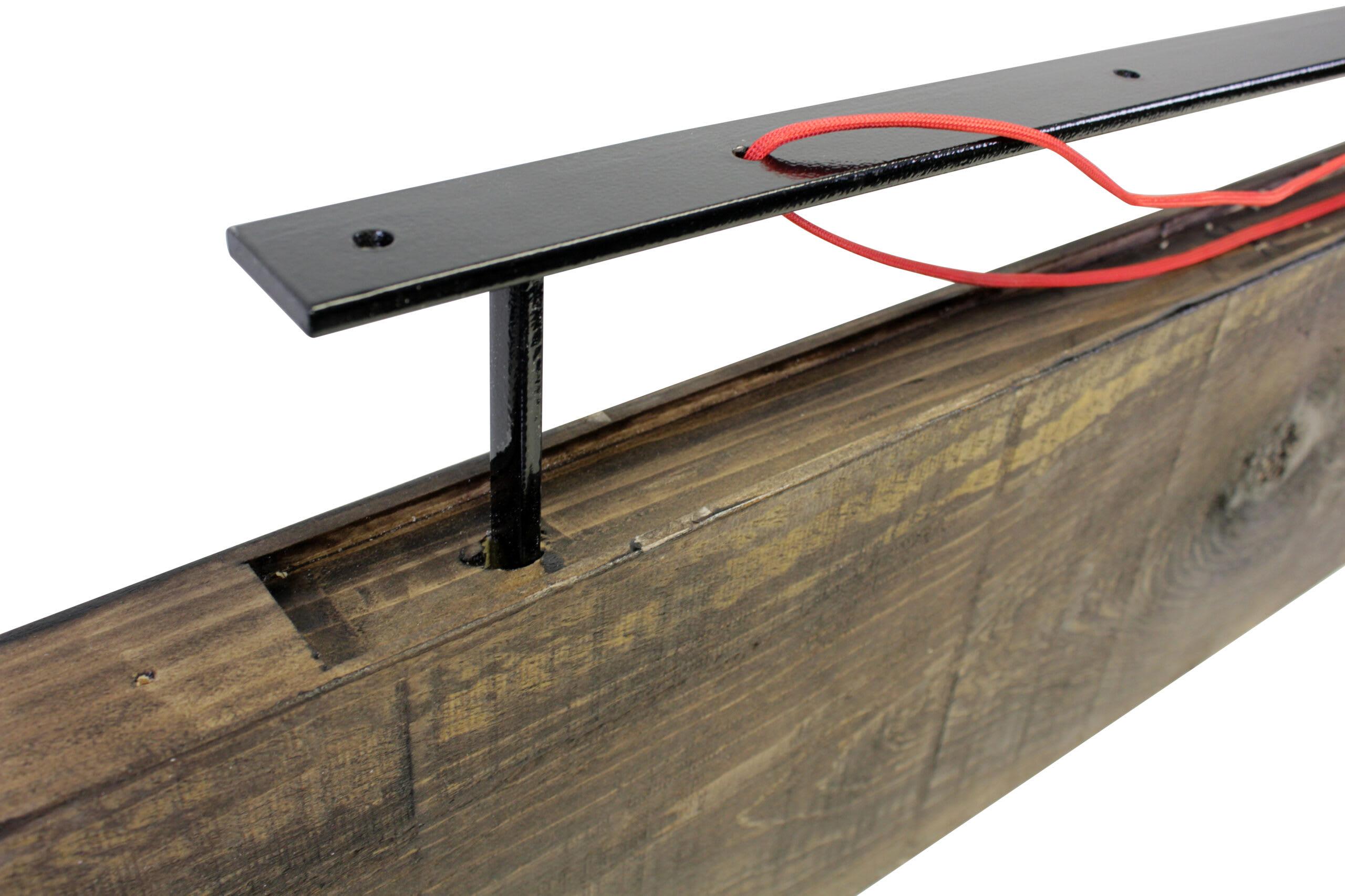 Dark Wood Shelf With Floating Shelf Dowel Brackets