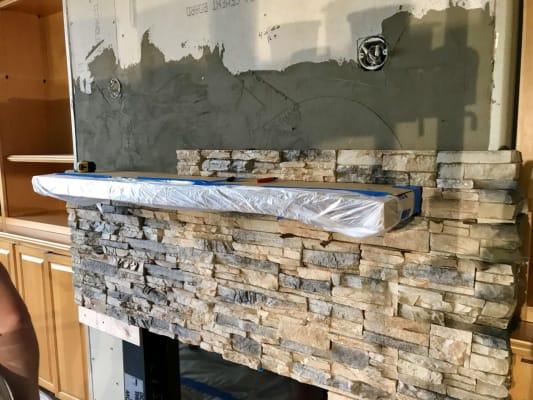 Fireplace Mantel Bracket Installation